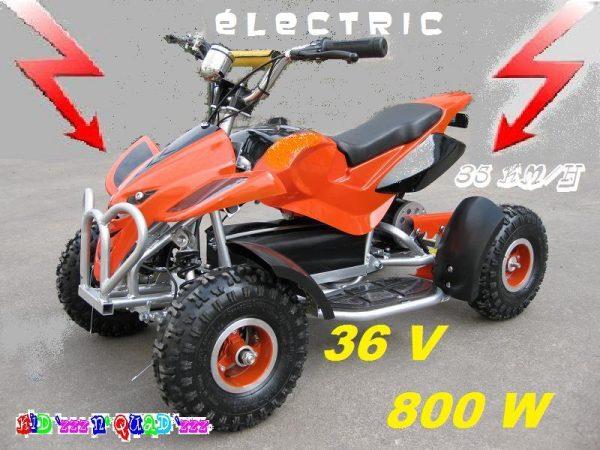 Quad électrique enfant 36V 800W Orange chez Kid'zzz n' Quad'zzz