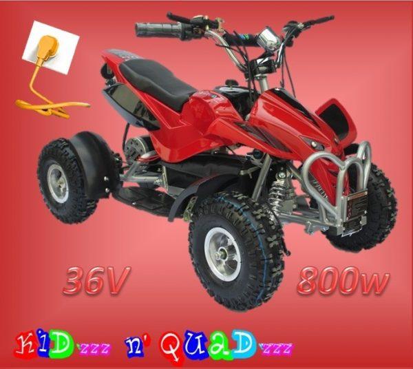Quad électrique enfant 36V 800W Rouge chez Kid'zzz n' Quad'zzz