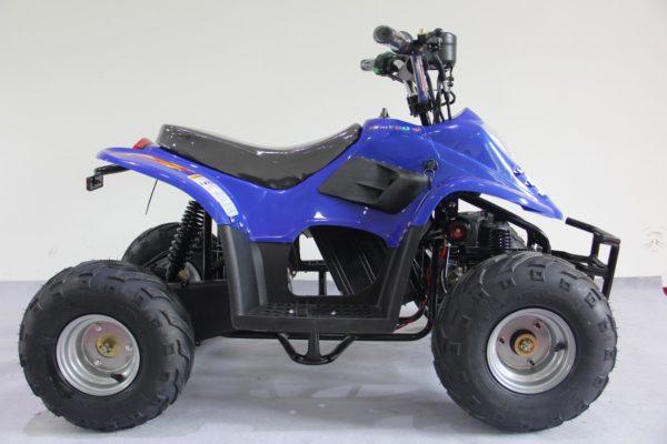 Quad électrique pour enfant Dinosaur Pro bleu 36V 500W vue de côté
