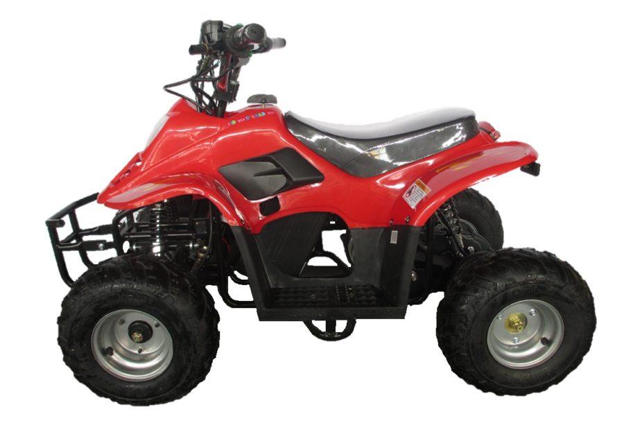 Quad électrique pour enfant Dinosaur Pro rouge 36V 500W vu de profil
