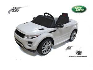 Voiture électrique Enfant 12V Range Rover blanc avec radiocommande