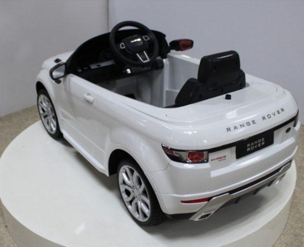 Voiture électrique Range Rover Evoque Blanc pour enfant - Vue arrière