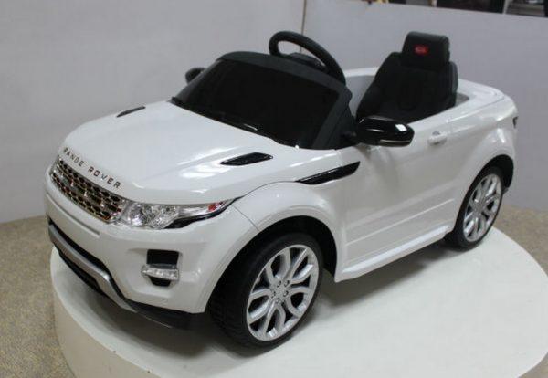 4X4 électrique pour enfant Range Rover Evoque Blanc - Vue 3/4 avant