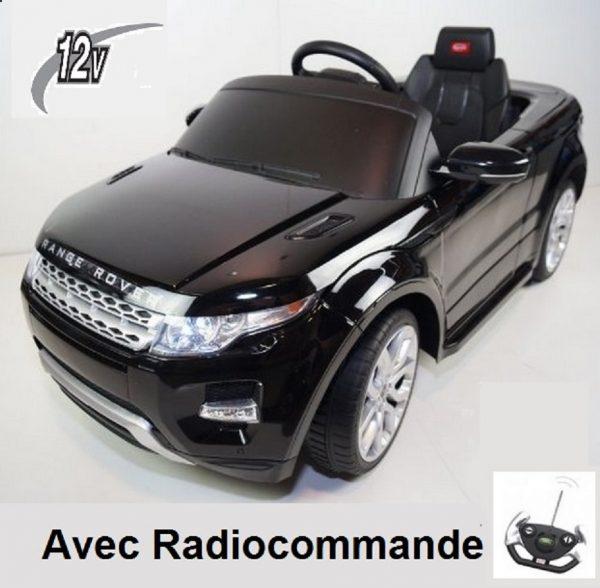 Voiture électrique pour enfant Range Rover Evoque Noir avec radiocommande
