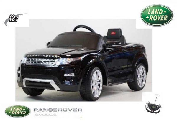 SUV électrique pour enfant 12V Range Rover noir avec radiocommande