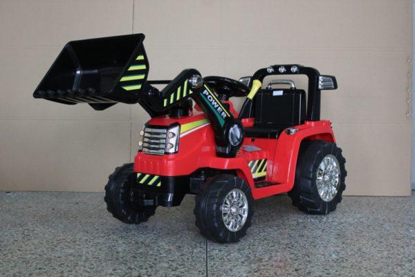 tracteur electrique enfant rouge