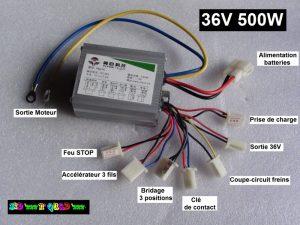 Variateur controleur 36V 500W
