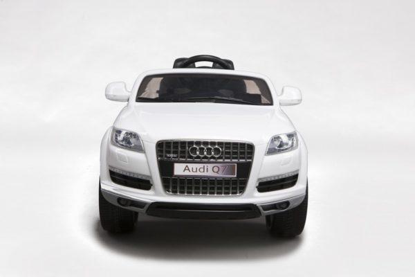 Voiture électrique enfant Audi Q7 blanc 12V - Vue avant