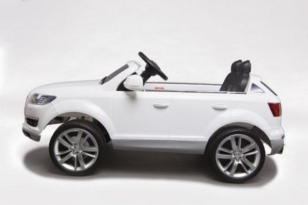 Voiture électrique enfant Audi Q7 blanc 12V - Vue de côté gauche