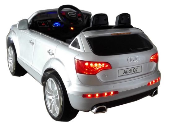 Voiture électrique enfant Audi Q7 gris metal12V - Vue 3/4 arrière