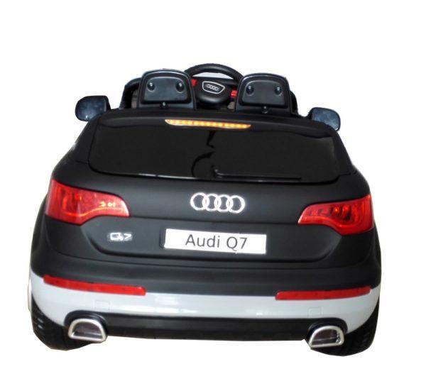 Voiture électrique enfant Audi Q7 noir mat 12V - Vue arrière