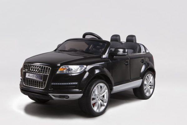 Voiture électrique enfant Audi Q7 noir 12V - Vue 3/4 avant