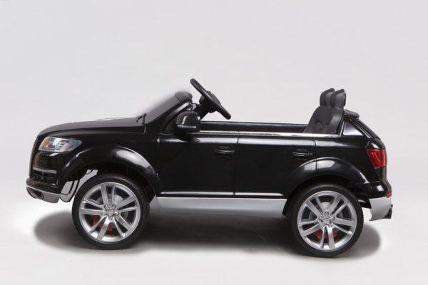 Voiture 4X4 électrique enfant Audi Q7 noir 12V - Vue de côté