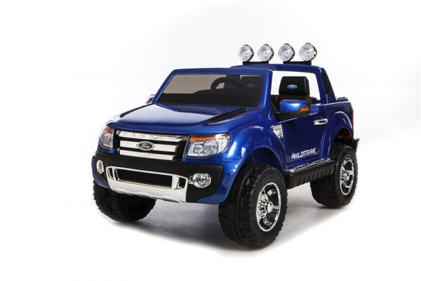 Voiture pour enfant Ford Ranger bleu électrique 12 V vue 3/4 avant