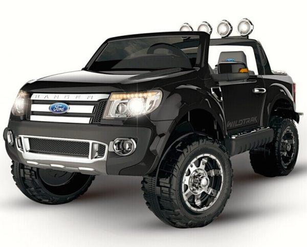Voiture pour enfant Ford Ranger noir 2 places 12 V vue 3/4 avant