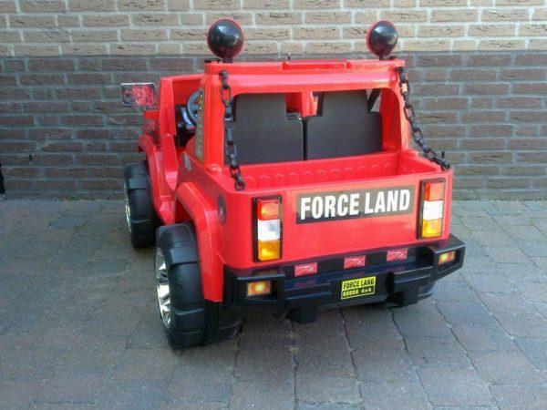 Voiture pour enfant Hummer électrique 12V rouge vue arrière Force Land