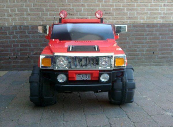 4X4 électrique enfant Hummer 12V rouge vue de face
