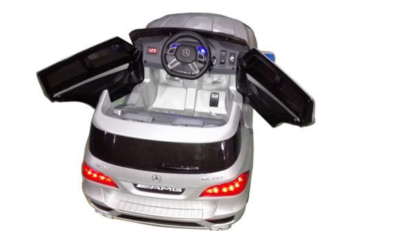 Mercedes ML63 Amg pour enfant de couleur gris argent