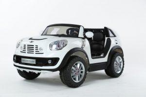 Mini Cooper électrique pour enfant - 12 V 2 places - Blanc