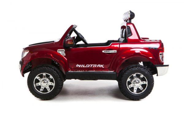 Voiture pour enfant Ford Ranger Wildtrak 12v rouge vue de côté