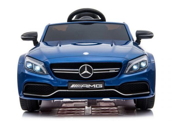 voiture electrique mercedes c63s bleu