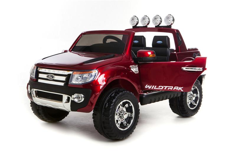 Voiture électrique pour enfant Ford Ranger 12v rouge vue de face