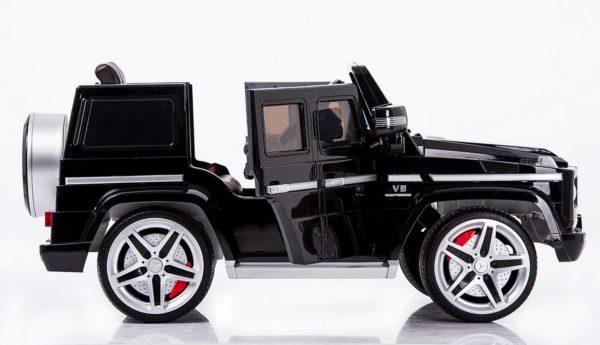 Mercedes G55 AMG électrique Noir Mat pour enfant  - Vue de côté