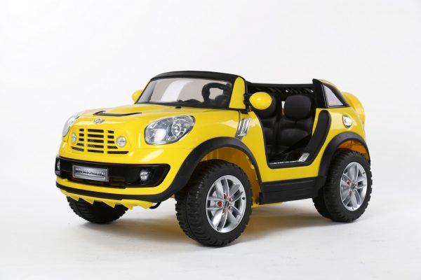 Mini Cooper électrique pour enfant - 12 V 2 places -Jaune